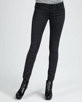 Vince Five-Pocket Skinny Herringbone Jeans