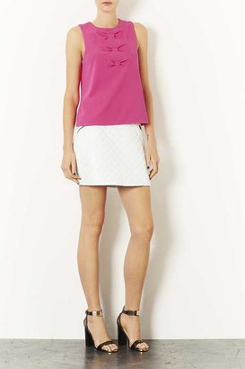 Topshop Triple Bow Shell Top