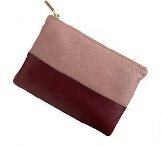 J.Crew Colorblock leather pouch
