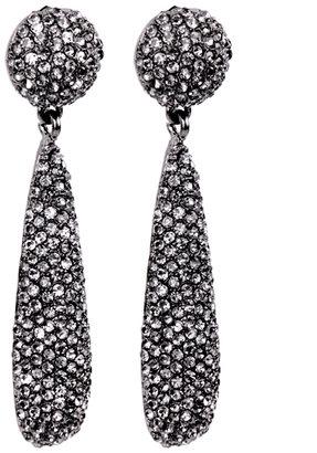 Kenneth Jay Lane Black Diamond Bat Drop Earrings