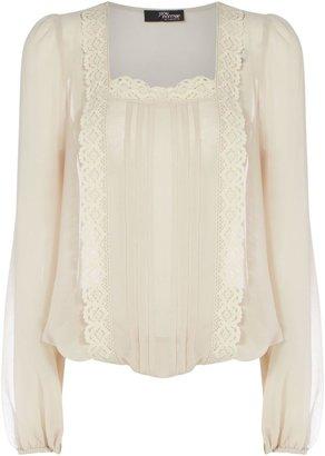 Jane Norman Women's Lace square neck blouse