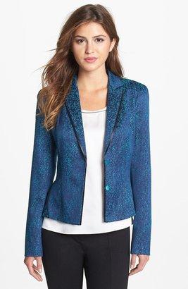 T Tahari 'Plum' Tweed Blazer