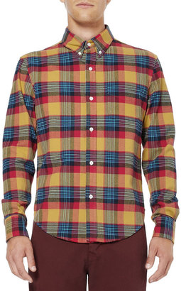Band Of Outsiders Check Cotton-Flannel Shirt