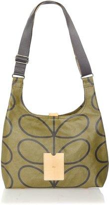 Orla Kiely Green giant stem print sling cross body bag