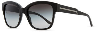 Stella McCartney Oversize Cat-Eye Sunglasses, Black