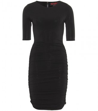 Alice + Olivia Air ruched-sleeve dress