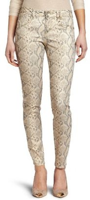 Democracy Women's Coated Justice Jegging In Snake Print Jean