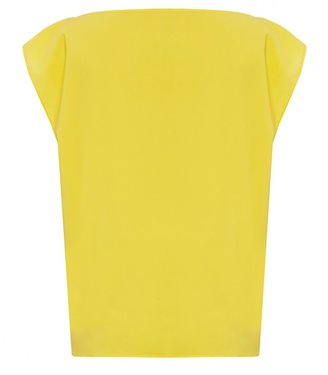 Alice + Olivia Lincoln Boxy Muscle Sleeve Top