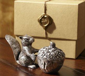 Pottery Barn Squirrel Salt & Pepper Gift Set