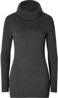 Ralph Lauren Black Label Wool-Angora Blend Luxe Neck Pullover in Charcoal