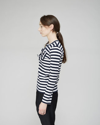 Comme des Garcons Girl breton stripe bow tee