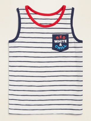 Old Navy Print Slub-Knit Pocket Tank Top for Toddler Boys