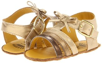 Juicy Couture Gold Sandal (Infant) (Gold Metallic) - Footwear