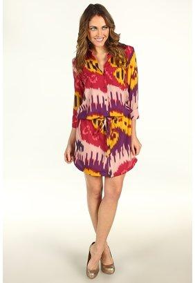 Rachel Pally Button-Down Shirt Dress (Ikat Print) - Apparel