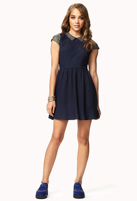 Forever 21 Studded Fit & Flare Dress