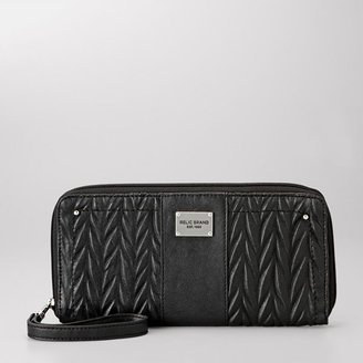 Relic bleeker feathered travel wallet