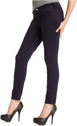 GUESS Jeans, Moto Skinny Navy Blue-Wash Colored-Denim