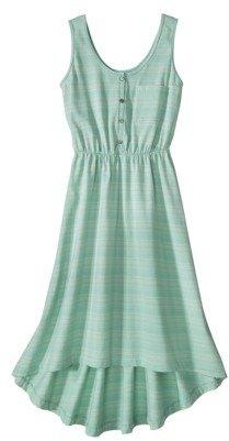 Merona Women's High-Low Dress -Green Stripe