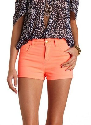 "Charlotte Russe Refuge """"Hi-Rise Shortie"""" High-Waisted Shorts"