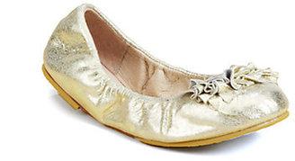 Bloch Girl's Raphaela Metallic Leather Ballet Flats