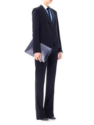Vanessa Bruno Satin-lapel crepe blazer