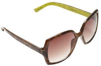 LOFT Mercer Colorblock Square Sunglasses
