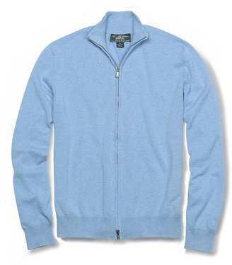 Brooks Brothers Country Club Lightweight Cashmere Zip-Front Cardigan