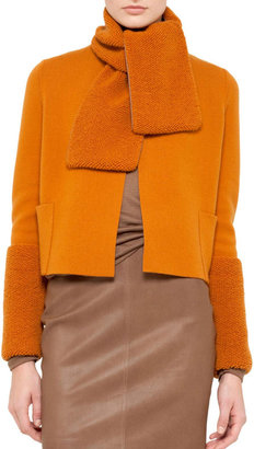 Akris Short Cashmere Knit Cardigan, Sunset