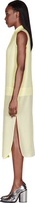 Alexander Wang Lemon Silk Chiffon & Crepe Sleeveless Shirt Dress