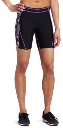 Danskin Women's 5 Inch Triathlon Short With Print