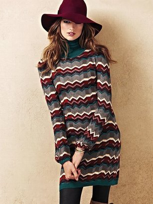 Victoria's Secret Zigzag Turtleneck Dress