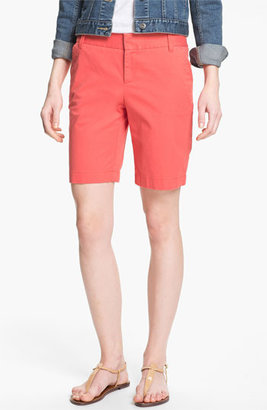 Caslon Clean Front Nine-Inch Shorts Washed Coral Spice 8