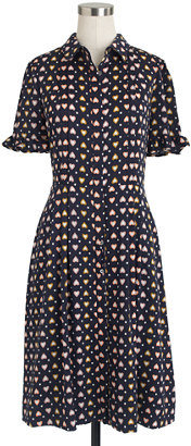 J.Crew Heart dot shirtdress