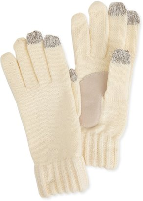 Isotoner Women's Smartouch Ladies Chunky Knit 3 Finger Touchscreen Gloves