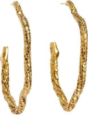 Aurelie Bidermann Gold Tao Snake Hoop Earrings