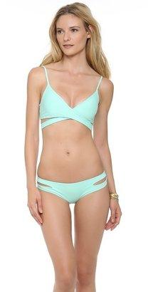 L-Space Sweet & Chic Solids Chloe Wrap Bikini Top