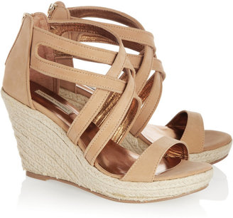 Twelfth St. By Cynthia Vincent Leather espadrille wedge sandals