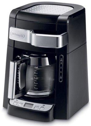 De'Longhi DeLonghi 12-Cup Drip Coffee Maker with Complete Frontal Access in Black