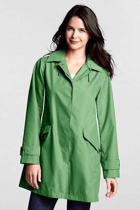 Lands' End Women's Petite SunShower Hooded Swing Coat