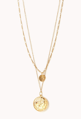 Forever 21 Globetrotter Coin Necklace