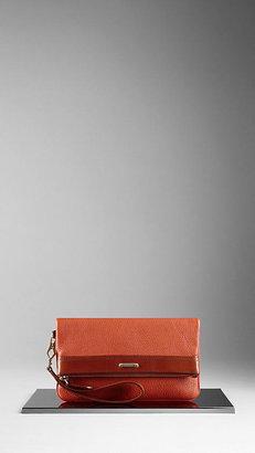 Burberry London Leather Wristlet