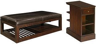 Park West Table Collection, 2 Piece Set (Rectangular Cocktail Table and Rectangular End Table)