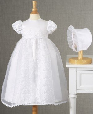 Lauren Madison Baby Girls Split-Front Christening Dress