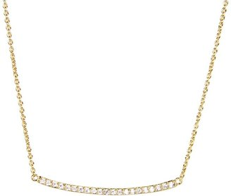 Gorjana Taner Pave Bar Necklace
