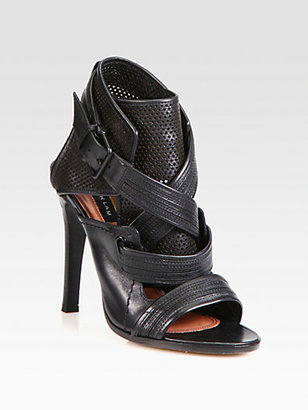 Derek Lam Beau Perforated Leather Sandals
