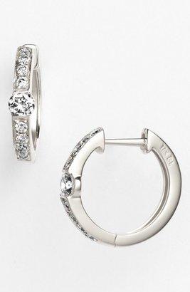 Women's Bony Levy 'Linea' Small Diamond Hoop Earrings (Nordstrom Exclusive) $1,650 thestylecure.com