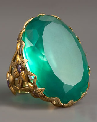 Stephen Dweck Large Agate & Delphinium Ring