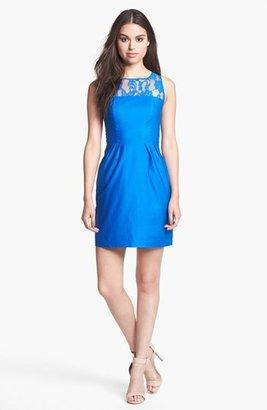 BB Dakota 'Mandy' Lace Yoke Fit & Flare Dress