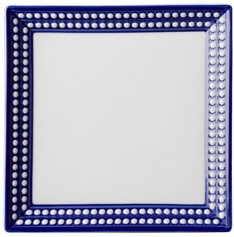 L'OBJET Perlee Bleu Porcelain Square Tray
