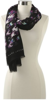 Marc by Marc Jacobs Shooting Houndstooth Scarf (Black Multi) - Accessories